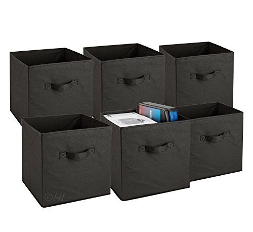 Square Collapsible Canvas Storage Box Foldable Kids Toys: Foldable Cube Storage Bins