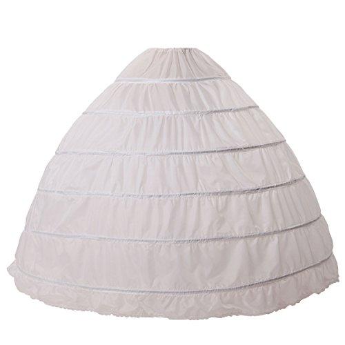 13c9d9be9bb MISSYDRESS Full A-Line 6 Hoop Floor-Length Bridal Dress Gown Slip Petticoat